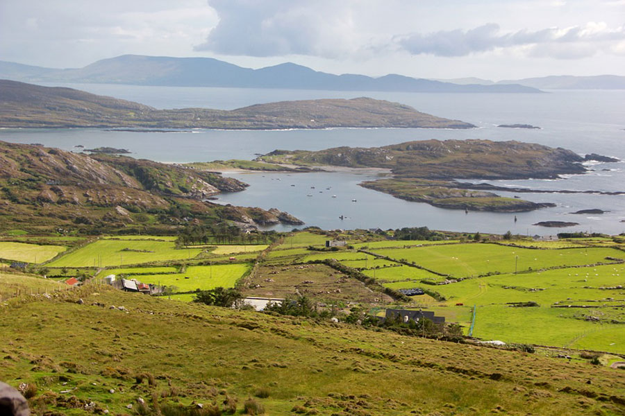 Hills of Donegal view from the mountain - Love Irish Tours