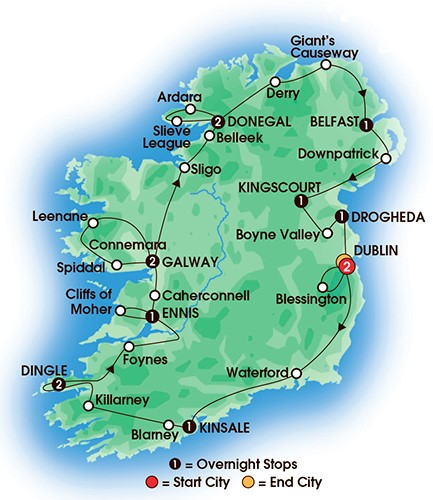 14 Day Jewels Of Ireland Tour
