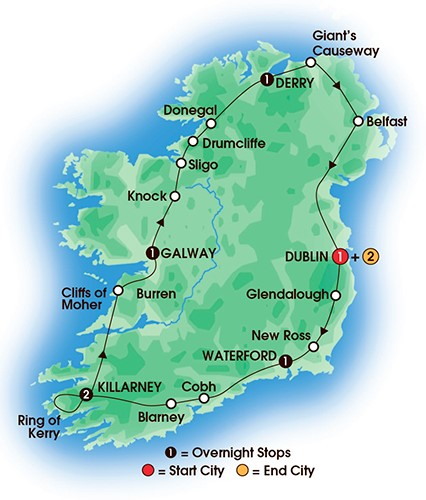 9 Day Irish Adventure