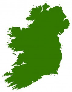 irish tour, small map of ireland