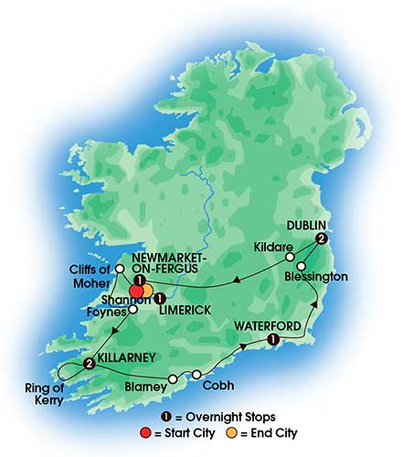 8 day tour Irish Heritage And Dromoland Castle