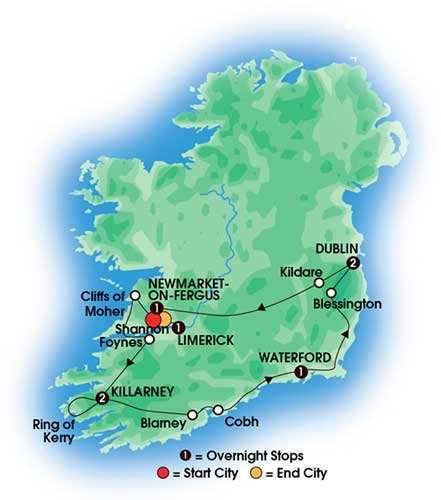 8 Day Chauffeur Irish Heritage and Dromoland Castle - Private Escorted Tours Love Irish TOurs