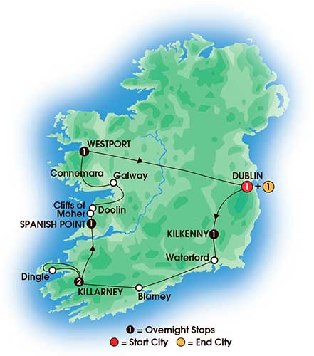 Map Of Ireland Doolin.8 Day The Irish Pub Tour Love Irish Tours