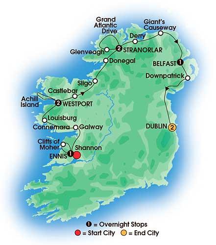 9 Day Ireland's Wild Atlantic Way - Large Group Tours - Love Irish Tours