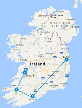 SELF DRIVE 5 day Wee Sample of Ireland Tour