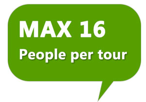 MAX OF 16 PEOPLE ON THE TOUR