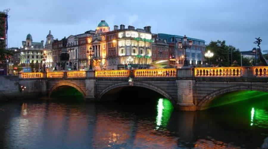 O'Connell Bridge at Night, Dublin City