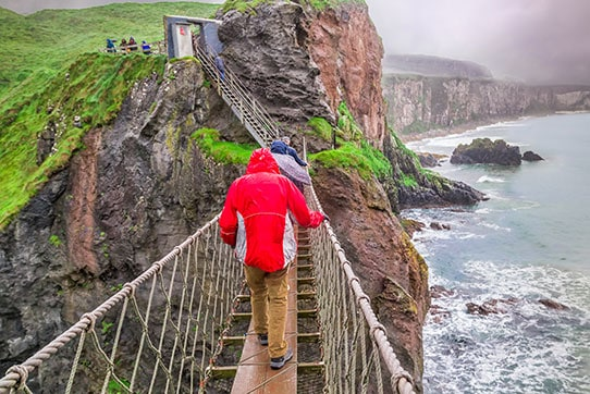 Rope Bridge in Carrick, Ireland
