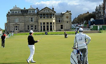 St Andrews, famous for golfing and Scotland's oldest university