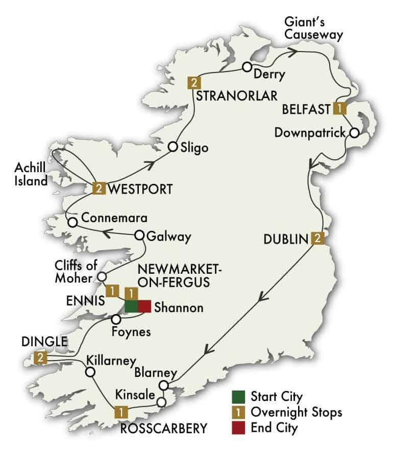 13 Day Ireland's Wild Atlantic Way