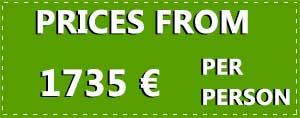 8 Day Love Ireland Tour 2021 price tag in euros